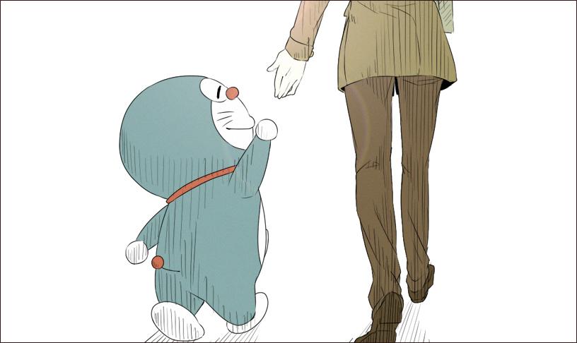 Hình ảnh chú mèo máy Doraemon chân ngắn đáng yêu