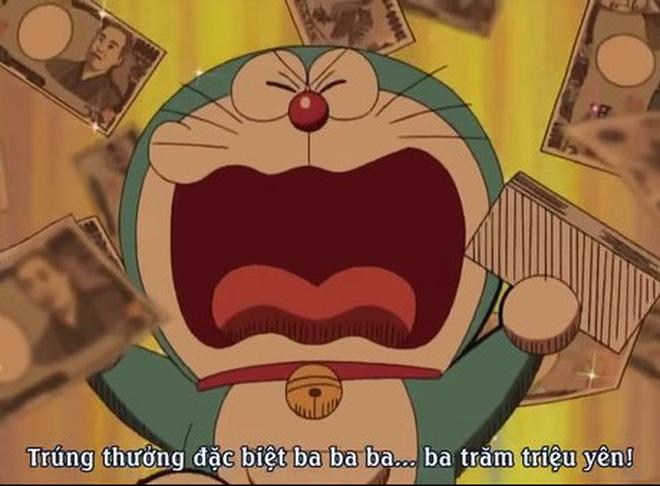 Hình ảnh chú mèo máy Doraemon đáng yêu trúng thưởng