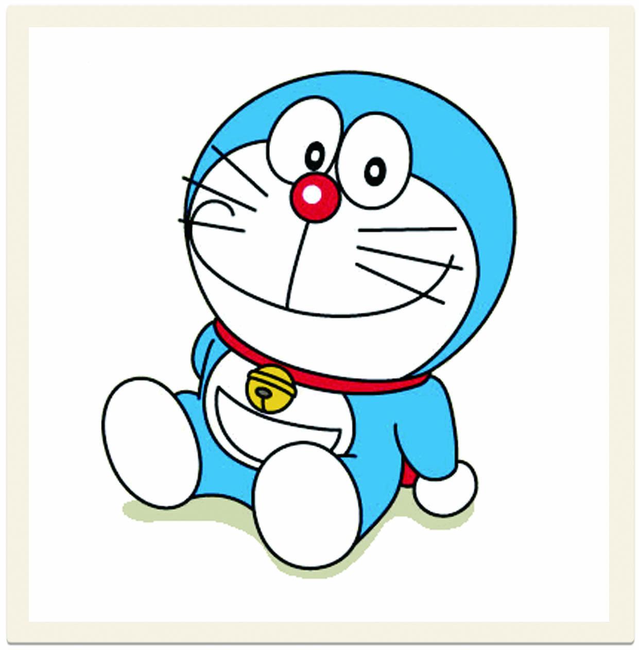 Hình ảnh chú mèo máy Doraemon xinh xắn
