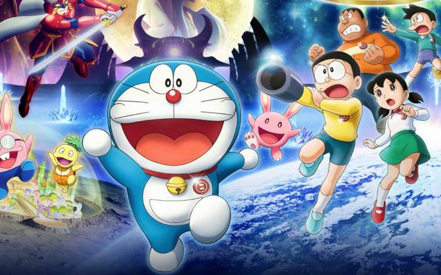 Hình ảnh Doraemon cùng chúng bạn