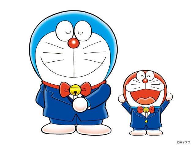 Hình ảnh Doraemon xanh và Doraemon đỏ cực đẹp