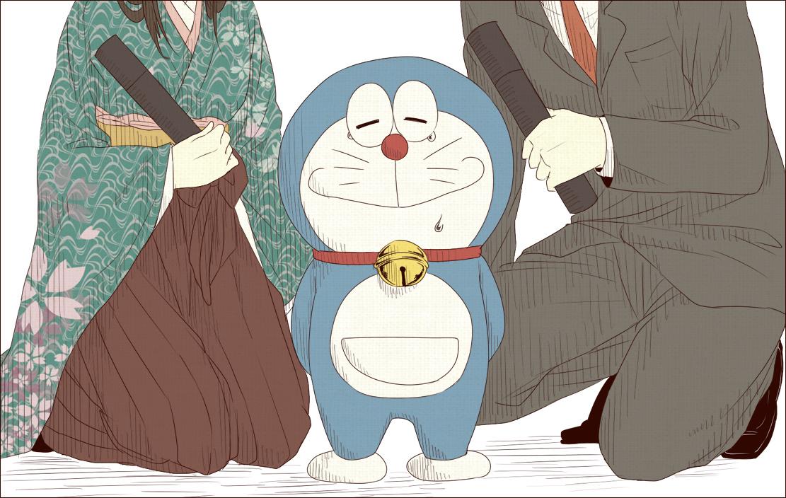 Hình ảnh mèo Doraemon khóc nhè