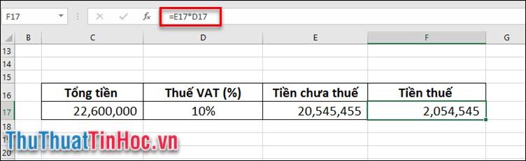 Tính số tiền thuế mà bạn phải chịu