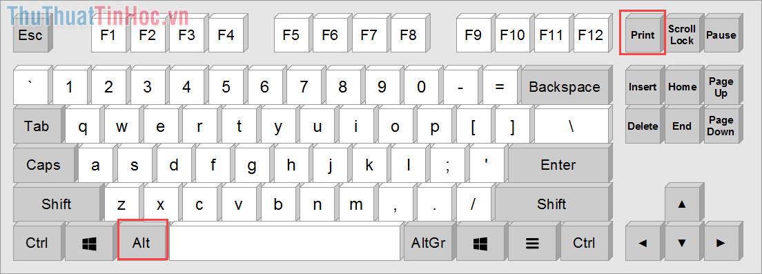 Sử dụng tổ hợp phím Alt + Print Screen