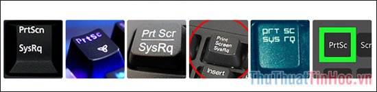 Tổng hợp nút Print Screen