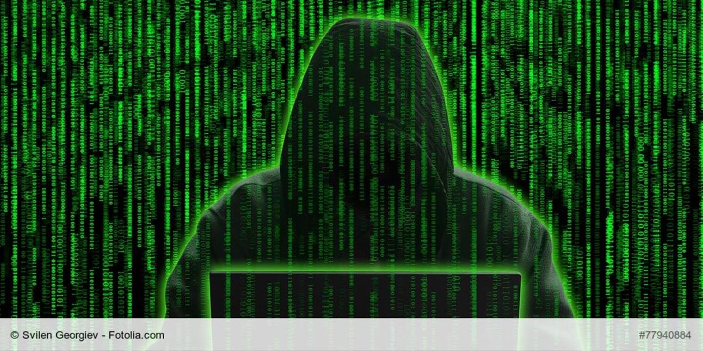 Hình ảnh Hacker mã nhị phân xanh