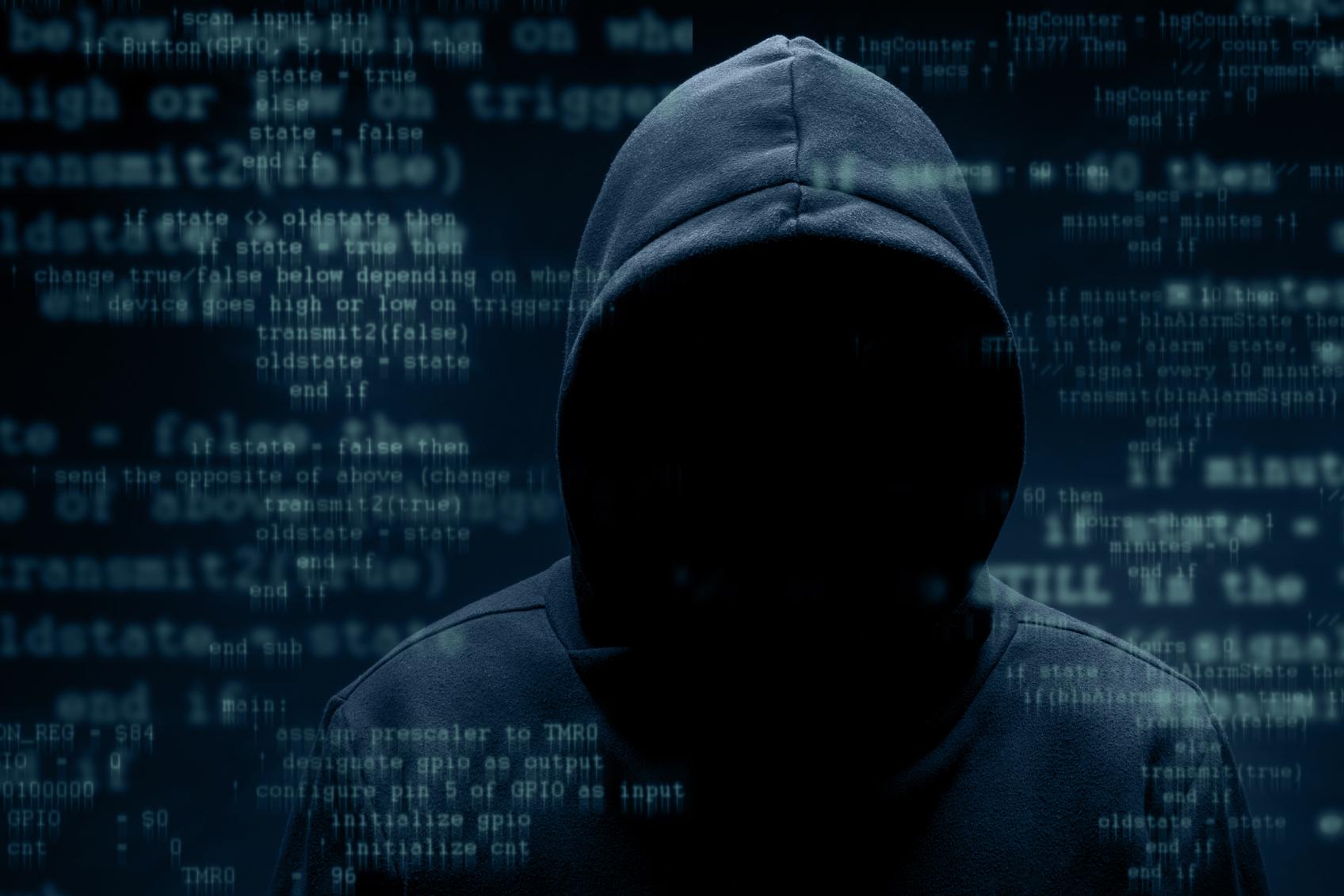 Hình ảnh Hacker mặc áo có mũ chùm cực ngầu