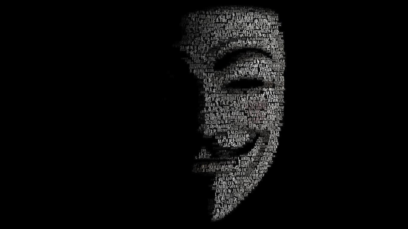 Hình ảnh Hacker mặt nạ trắng
