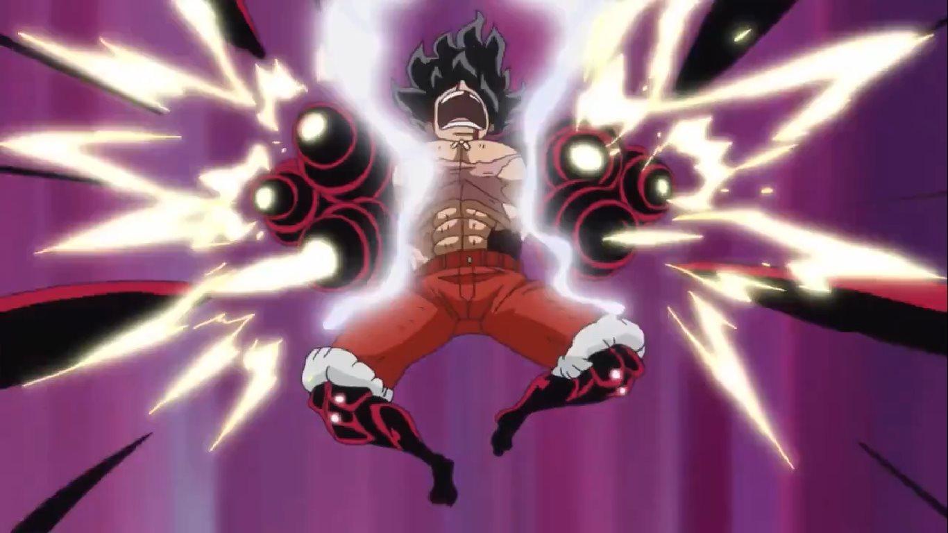 Hình ảnh Luffy chuẩn bị tấn công cực ngầu