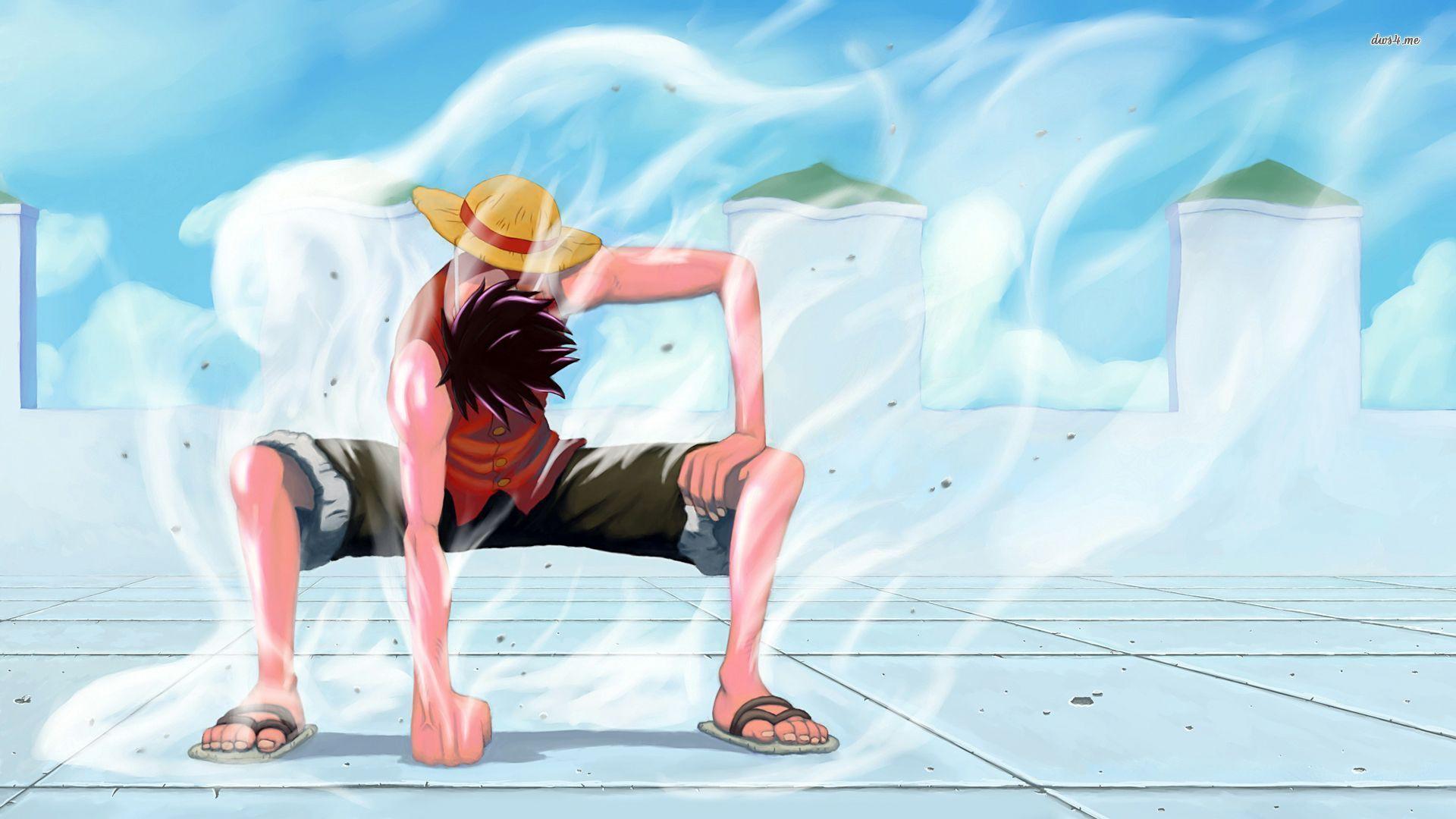 Hinh ảnh Luffy cực ngầu với khí thoát ra