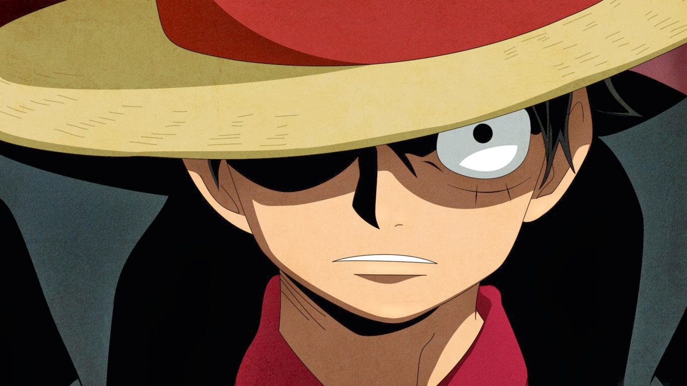 Hình ảnh Luffy đẹp và mũ rơm mặt ngầu