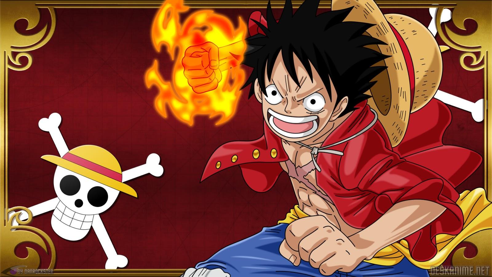 Hình ảnh Luffy ngầuvung nắm đấm