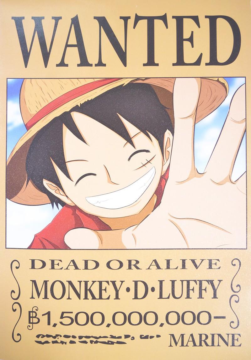Hình ảnh Luffy truy nã rất ngầu
