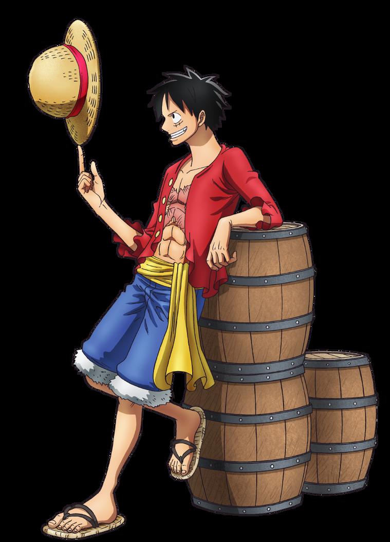 Hình ảnh Luffy tựa bình rượu rất ngầu