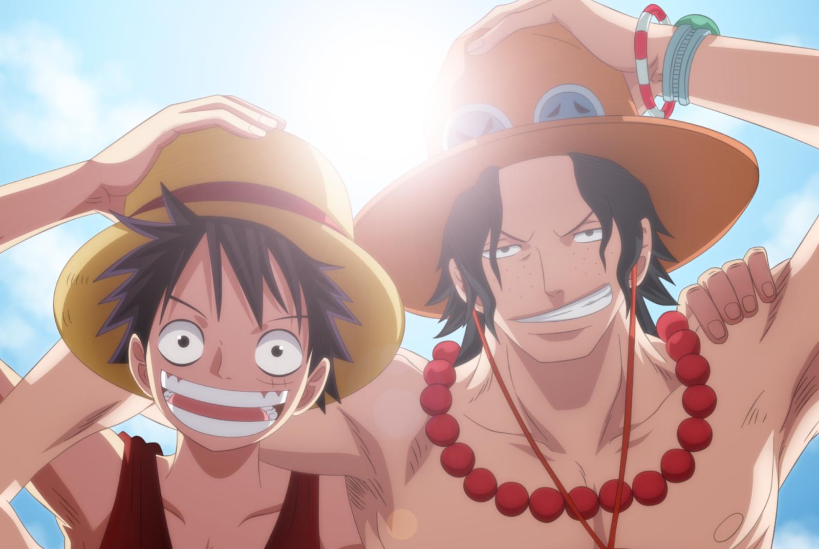 HÌnh ảnh Luffy và anh trai Ace