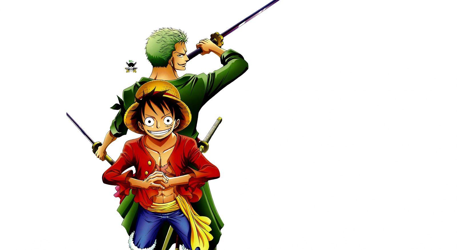 Hình ảnh Luffy và Zoro kề lưng chiến đấu