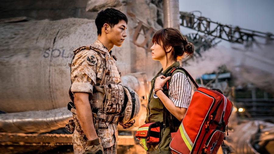 Hình ảnh tình yêu lãng mạn giữa trận động đất
